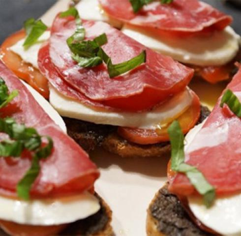 Bruschetta Tomates, Mozza, Coppa italienne